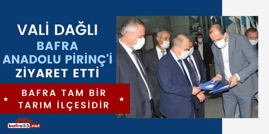 Vali Dağlı Bafra Anadolu Pirinç'i ziyaret etti