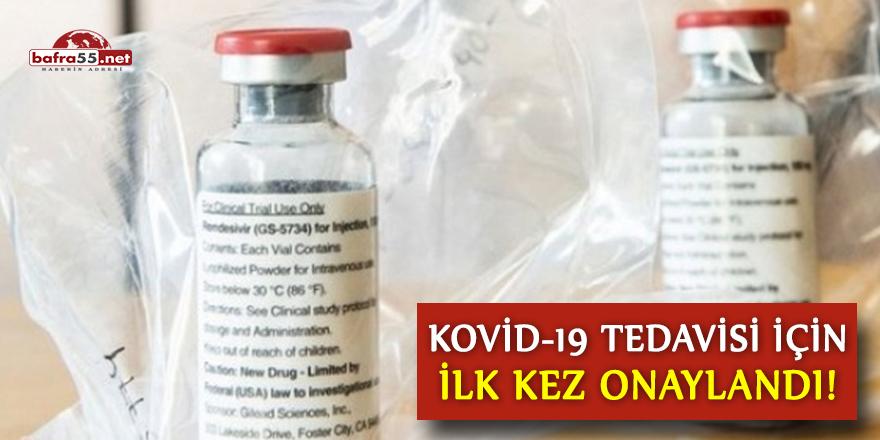 Kovid-19 tedavisi için ilk kez onaylandı