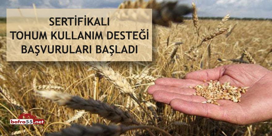 Sertifikalı tohum kullanım desteği başvuruları başladı