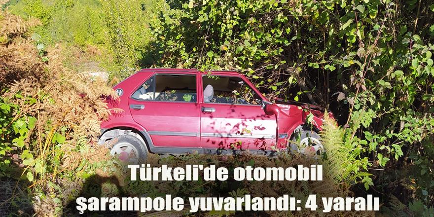 Sinop'ta uçuruma yuvarlanan araçta 4 kişi yaralandı