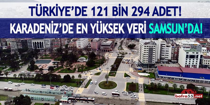 Karadeniz'deki en yüksek veri Samsun'da