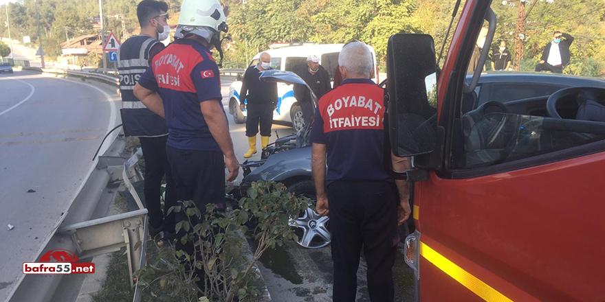 Boyabat'ta kaza! 1 yaralı