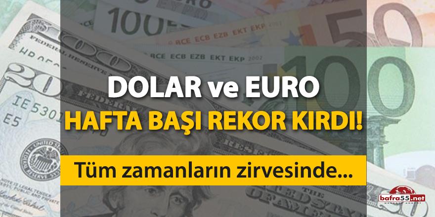 Dolar ve Euro tüm zamanların zirvesinde!