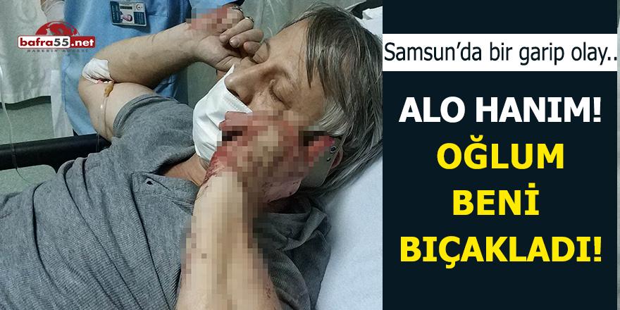 Samsun'da çocuk babasını bıçakladı!