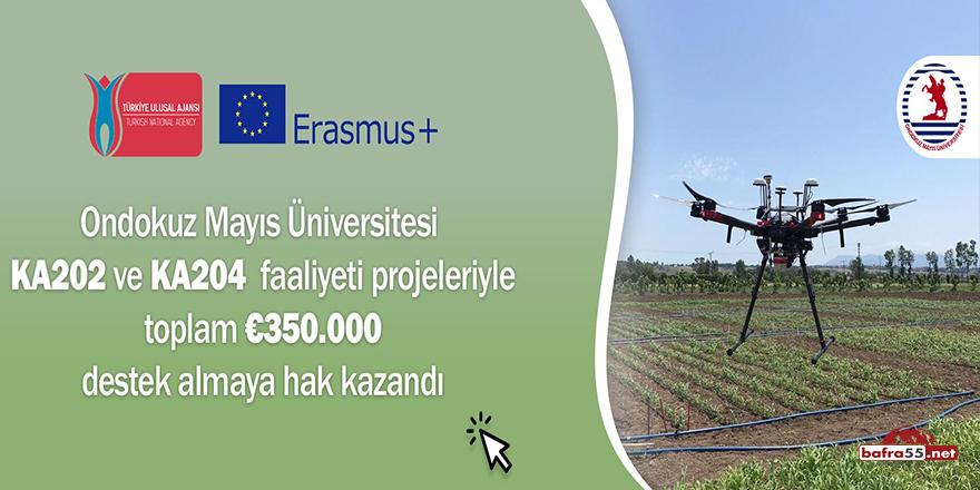OMÜ'nün 2 ayrı projesindeki 350 bin euroluk bütçeye onay