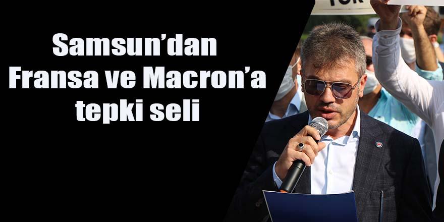 Samsun'dan Fransa ve Macron'a tepki seli