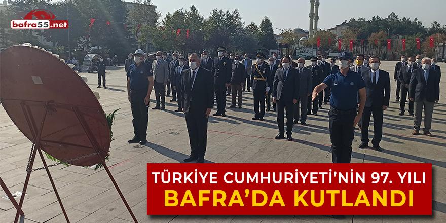 Türkiye Cumhuriyeti'nin 97'inci yılı Bafra'da kutlandı
