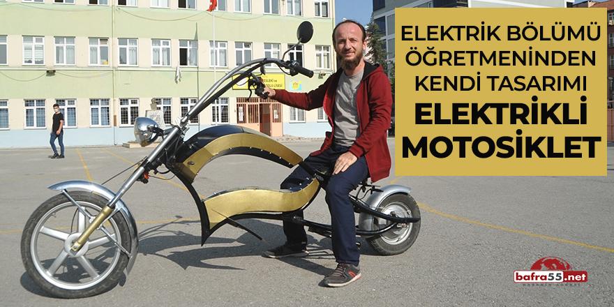 Elektrik bölümü öğretmeninden kendi tasarımı elektrikli motosiklet