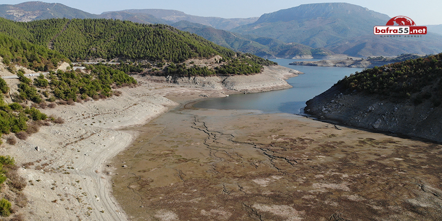 Altınkaya Barajı'nda sular çekildi