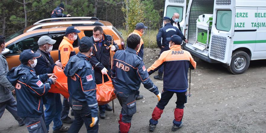 Sinop'ta yaşlı adamın cesedi uçurumdan çıkarıldı