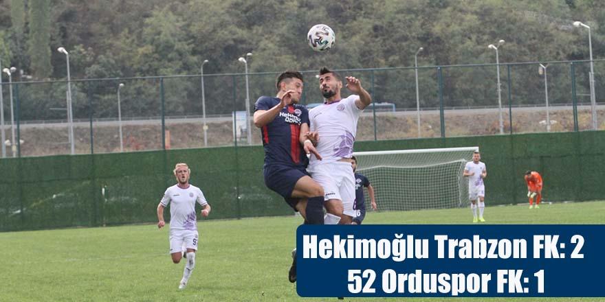 Hekimoğlu Trabzon FK: 2 - 52 Orduspor FK: 1