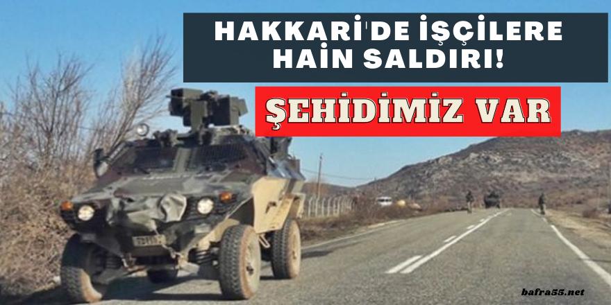 Hakkari'de PKK'lı Teröristler İşçilere Saldırdı: 1 Şehit, 2 Yaralı