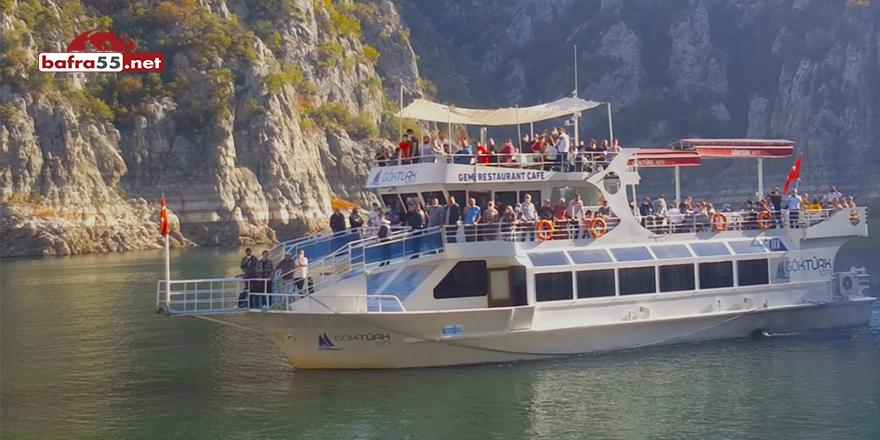 'Şahinkaya Kanyonu'nda ziyaretçilere sürpriz