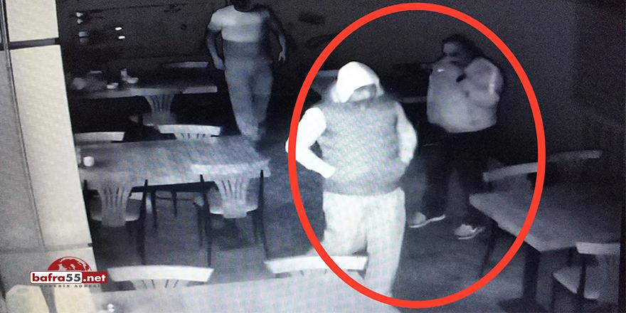 Samsun'da lokantacıya saldırı anı kamerada