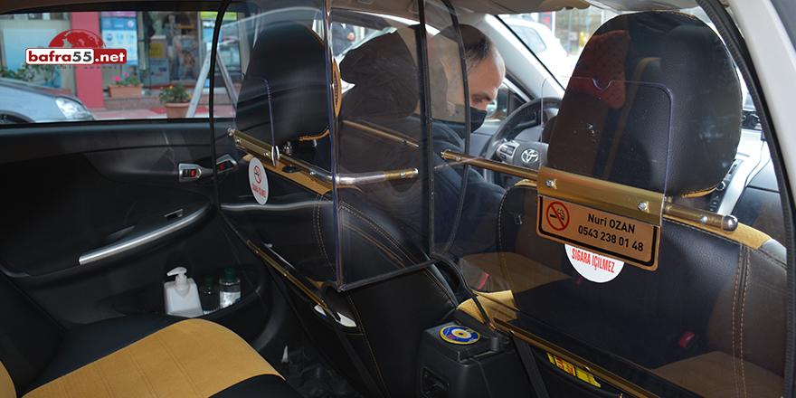 Sinop'ta koronaya karşı ilk 'kabinli taksi' uygulaması