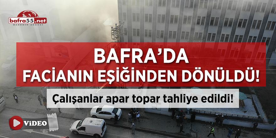 Bafra'da Tekstil Fabrikası Yandı