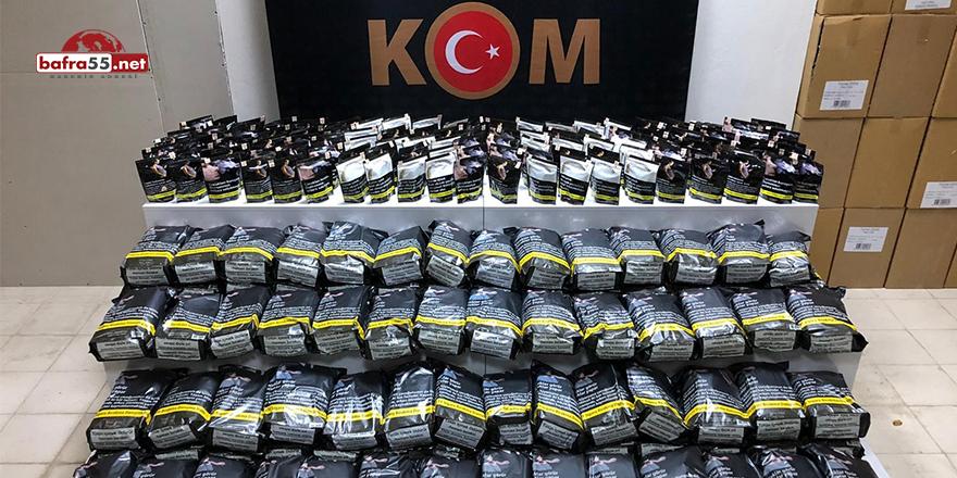 Atakum'da kaçak tütün operasyonu