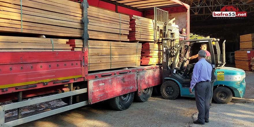 Türkeli'den İran'a kereste ihracatı