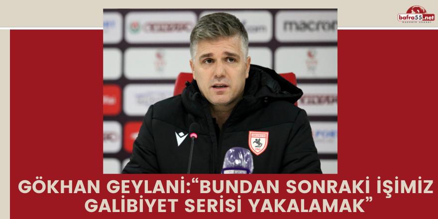 """Gökhan Geylani: """"Bundan sonraki işimiz galibiyet serisi yakalamak"""""""