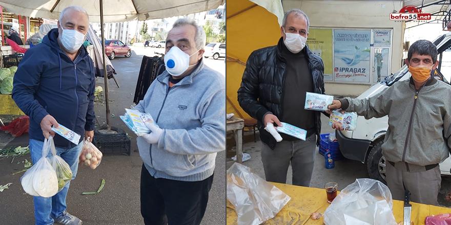 Sinop'ta bir firma 40 bin ücretsiz maske dağıttı