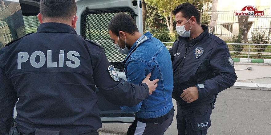 Tanımadığı kişinin aracına zarar veren genç tutuklandı