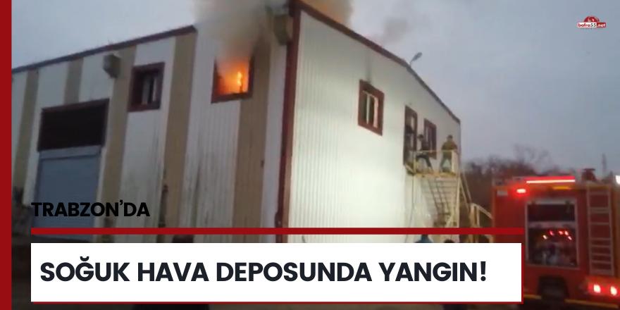 Trabzon'da soğuk hava deposunda yangın!