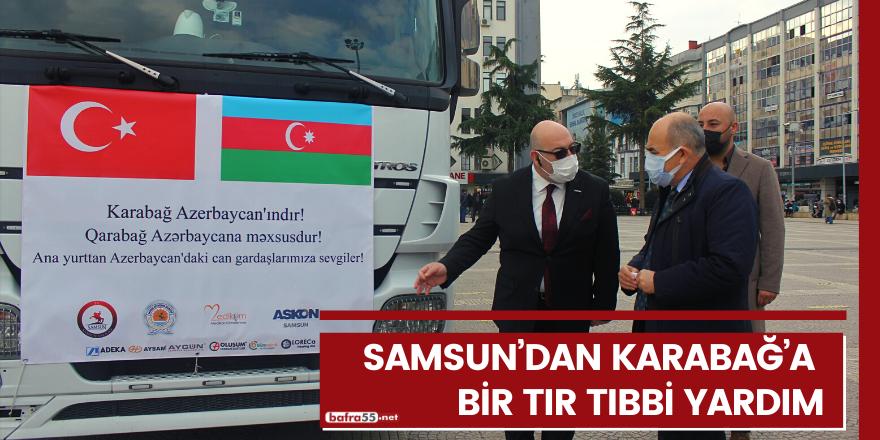 Samsun'dan Karabağ'a bir tır tıbbi yardım