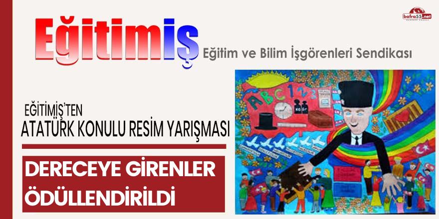 """EĞİTİM-İŞ'TEN """"ÇOCUK GÖZÜYLE ATATÜRK"""" RESİM YARIŞMASI"""