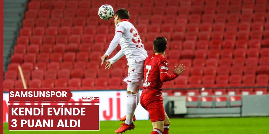 Samsunspor evinde Boluspor'u 1-0 yendi