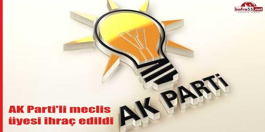 AK Parti'li meclis üyesi ihraç edildi