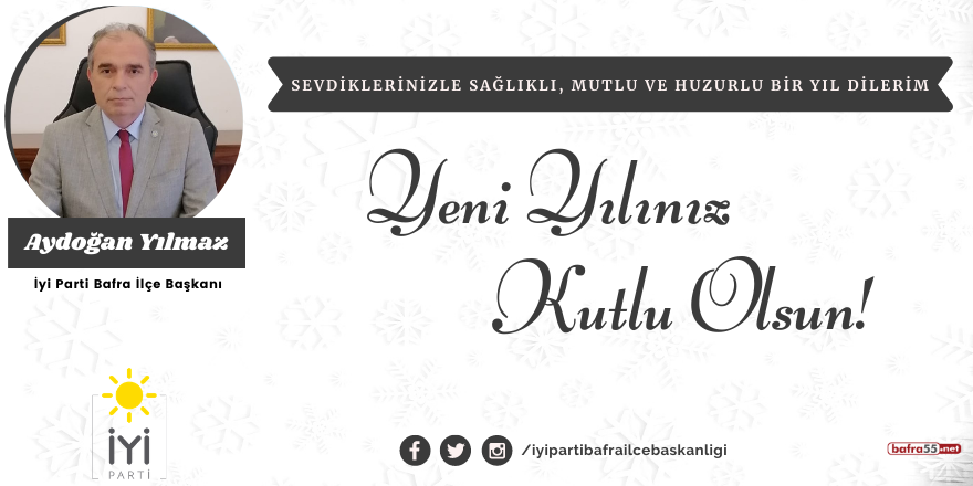Aydoğan Yılmaz'dan yeni yıl mesajı