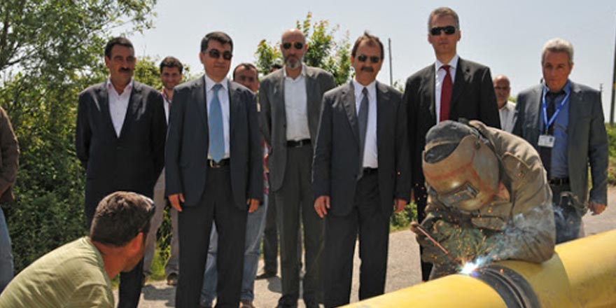 2012 EKİM'DE DOĞALGAZ BAFRA'DA
