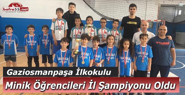 Bafra Gaziosmanpaşa ilköğretim okulundan 4*4'lük başarı
