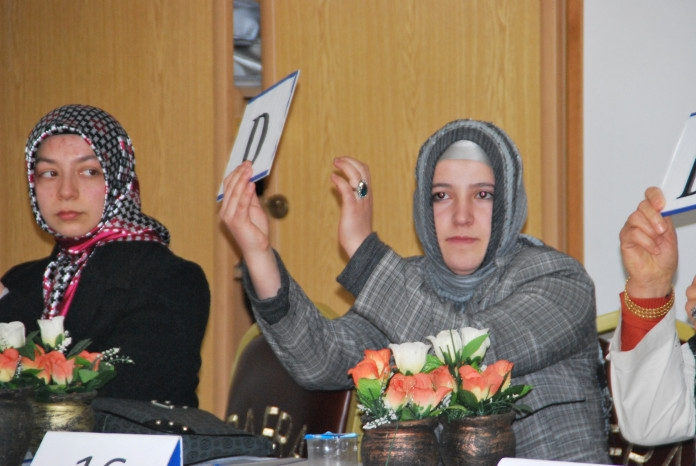 Bafra da kadın çiftciler yarıştı