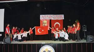 Fatih İ. Ö. Okulu'nda Millî Marş'ın Kabulü Programı
