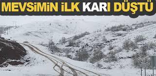 Bafra'ya mevsimin ilk karı düştü