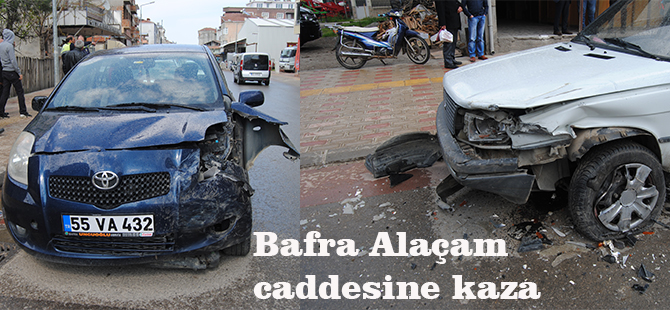 Alaçam Caddesinde maddi hasarlı Kaza