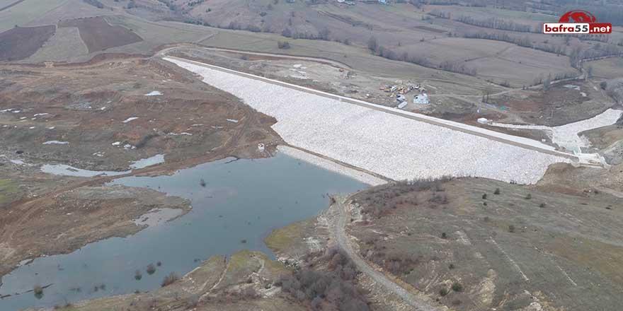 Ladik Fındıcak Barajı'nın yapımı tamamlandı
