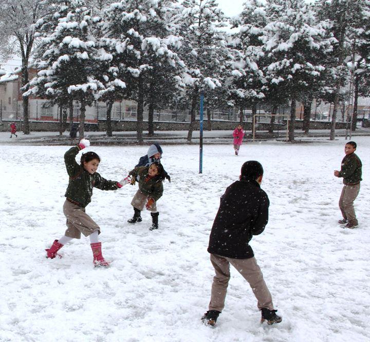 Samsunda kar yağışı