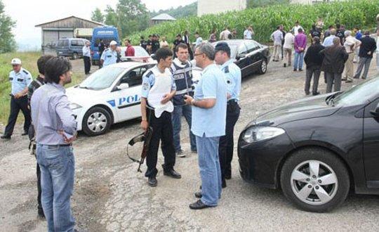 Düzköy halkı operasyona katıldı
