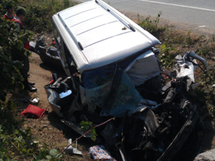 Samsunda Trafik Kazası 7 Ölü 1 yaralı