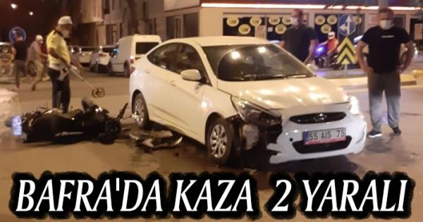 Bafra'da Kaza 2 Yaralı