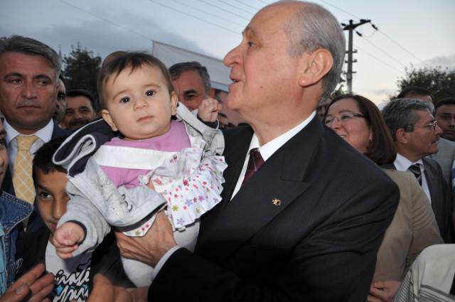MHP Lideri Bahçeli Alaçam'da