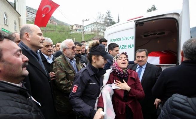 BAFRA'LI POLİS MEMURU SON YOLCULUĞUNA UĞURLANDI