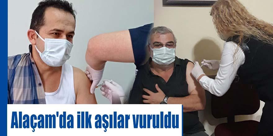 Alaçam'da ilk aşılar vuruldu