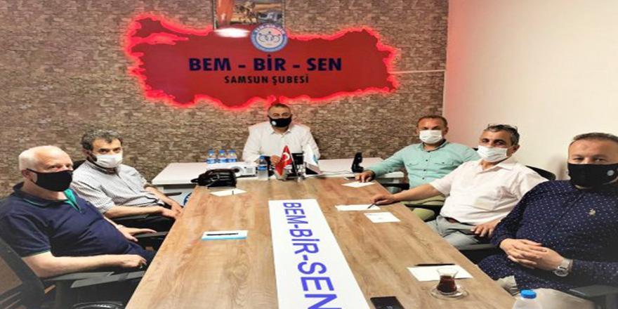 Samsun BEM-BİR-SEN'de çalışmalarına ara vermeden devam ediyor