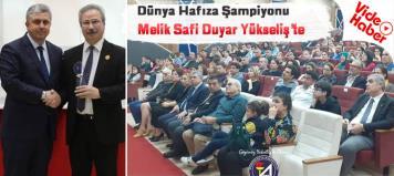Dünya Hafıza Şampiyonu Melik Safi Duyar Alaçam'da