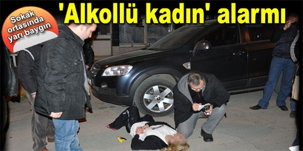 BAFRA'DA ALKOLLÜ KADIN, POLİSİ ALARMA GEÇİRDİ