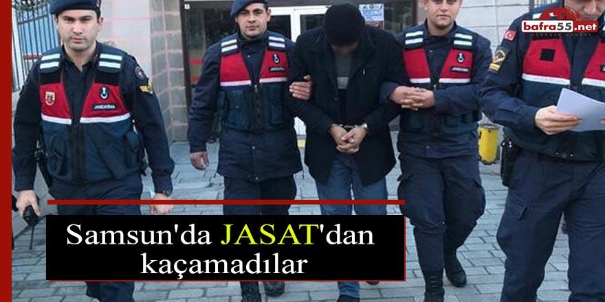 Samsun'da JASAT'dan kaçamadılar