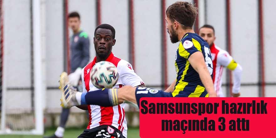 Samsunspor hazırlık maçında 3 attı